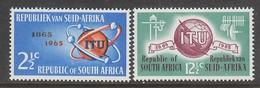 PAIRE NEUVE D'AFRIQUE DU SUD - CENTENAIRE DE L'UNION INTERNATIONALE DES TELECOMMUNICATIONS N° Y&T 294/295 - Telecom