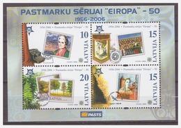 0923 Latvia 2006 50 Year Europe Europa CEPT S/S MNH - Europa-CEPT