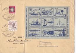 NORDPOLAR EXPEDITION 20 JAHRE AG PHILATELIE EFURT. OBLITERE POLARPOSTSONDERSCHAU 1968 -BLEUP - Arctic Expeditions