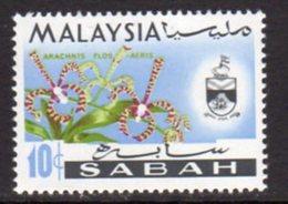 Malaysia Sabah 1970 Orchids 10c Value, Wmk. Sideways, MNH, SG 431 - Malaysia (1964-...)