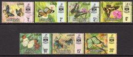 Malaysia Sabah 1971 Butterflies Set Of 7, Litho Bradbury, Used, SG 432/8 - Malaysia (1964-...)