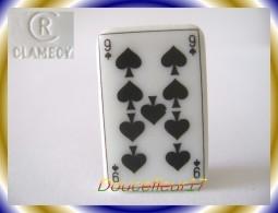 Clamecy .. Carte à Jouer ..Neuf De Pique... Ref AFF : 28-1996 ...(Boite 4) - Olds