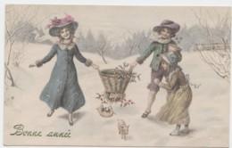 Cpa Illustrateur VIENNE  Bonne Année  Enfant Au Panier (lot Pat 02) - Vienne