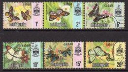 Malaysia Sabah 1977-8 Butterflies Set Of 6, Gravure Harrison, Used, SG 439/44 - Malaysia (1964-...)