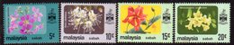Malaysia Sabah 1983-5 Flowers Set Of 4, No Watermark, MNH, SG 454/7a - Malaysia (1964-...)