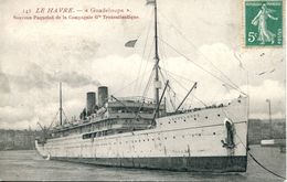 """N°66107 -cpa Le Havre """"Guadeloupe"""" Nouveau Paquebot Cie Gle Transatlantique- - Dampfer"""