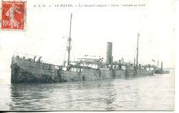 "N°66110 -cpa Le Havre -le Steamer Anglais ""Shira"" Entrant Au Port - Commerce"