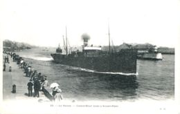 N°66119 -cpa Le Havre -cargo-boat Dans L'avant Port- - Commerce