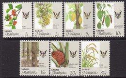 Malaysia Sabah 1986-98 Agricultural Produce Set Of 7, MNH, SG 459/65 - Malaysia (1964-...)