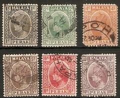 MALAYA - PERAK 1935 - 1937 VALUES TO 10c  FINE USED - Perak