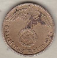5 Reichspfennig 1937 D (MUNICH) Bronze-aluminium - [ 4] 1933-1945 : Troisième Reich