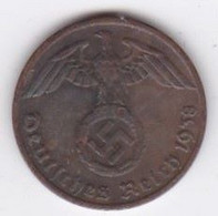 1 Reichspfennig 1937 F (STUTGART) Bronze - [ 4] 1933-1945 : Tercer Reich