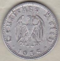 Allemagne, IIIème Reich, 50 Reichspfennig 1935 D (MUNICH) Aluminium - [ 4] 1933-1945 : Troisième Reich