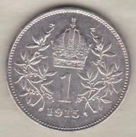 AUTRICHE .1 CORONA 1915. FRANZ JOSEPH I . ARGENT - Autriche