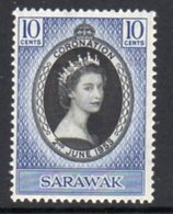 Malaya Sarawak 1953 Coronation, Hinged Mint, SG 187 - Sarawak (...-1963)