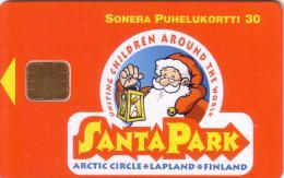 FINLANDE FINLAND PERE NOEL SANTA CLAUS NOEL CHRISTMAS SANTA PARK CERCLE ARCTIQUE ARTIC CIRCLE MINT NEUVE  30U - Finlande