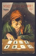 FORTUNE TELLING PLAYING CARD CARDS ~ Madame Reading Cards - Pull Up To Read Fortune - Playing Cards