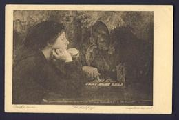 FORTUNE TELLING PLAYING CARD CARDS ~ Older Person Reading Cards To Woman - Playing Cards