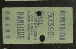 ANCIEN TICKET DE METRO PARIS BANLIEUE  B692 - U-Bahn