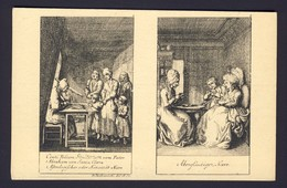 FORTUNE TELLING PLAYING CARD CARDS ~ Two Views Of People Reading Cards To Groups - Playing Cards