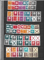 Netherlands,USED Combinations From Booklets (2 Scans) - Timbres