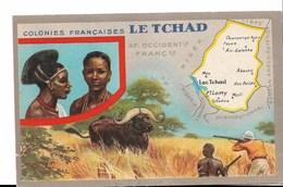TCHAD - Carte Géographique - Lion Noir - Tchad