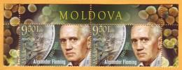 2018 Moldova Moldavie Moldau  Sir Alexander Fleming  British Bacteriologist  Nobel Prize Laureate Mint - Nobel Prize Laureates