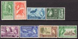 Malaysia Sarawak 1964-5 Definitives, Wmk. St. Edward's Crown Set Of 8, Hinged Mint, SG 204/11 - Malaysia (1964-...)