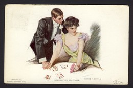 PLAYING CARD CARDS ~ Interrupted Solitaire - Couple Woman Man - Alonzo Kimball A/s - Playing Cards