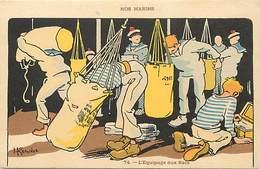 Themes Div- Ref Z32- Illustrateurs - Illustrateur H Gervese -nos Marins -marine Militaire - L Equipage Aux Sacs - - Gervese, H.