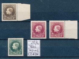 """BELGIUM """"PARIS"""" COB 289/292 MNH - 1929-1941 Groot Montenez"""