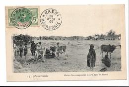 MAURITANIE- Halte D'un Campement Maure Dans Le Désert - CPA En Parfait état ( Voir Scann) - Mauritanie