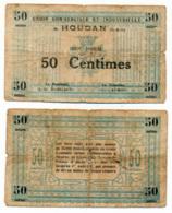 HOUDAN // UNION COMMERCIALE ET INDUSTRIELLE // 50 Centimes - Bons & Nécessité