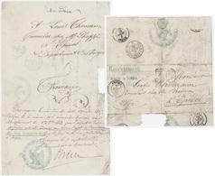 Angers 1865 Recrutement De Maine & Loire Épinal – Paris à Strasbourg 'E' Tonnelier - 1801-1848: Précurseurs XIX