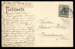 Danzig 1907 Tiegenhof Vorhofstrasse Litho Street View Cover 90483 - Briefmarken
