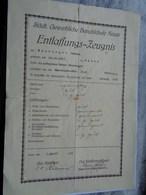 Réf: 59-10-55.  Städt. Gewerbliche Berufschule NEUSS   Entlaffungs-Zeugnis. - Documents