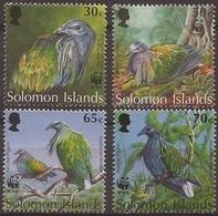 ILES SALOMON / SOLOMON ISLANDS 1993 Y&T 798 à 801 Neufs** Le Pigeon Nicobar - WWF / Caloenas Nicobarica - Ongebruikt