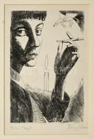 Nagy László (1925-1978): Szécsi Margit. Rézkarc, Papír, Utólagos Jelzéssel, Paszpartuban, 18×12 Cm - Altre Collezioni