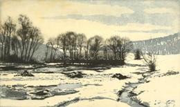 Nagy Zoltán (1916-1987): Kisinóc. Rézkarc, Papír-karton, Jelzett, Keretben, 18,5×31 Cm - Altre Collezioni