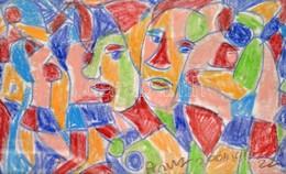 Cs. Németh Miklós (1934-2012): Sokalakos, Pasztell, Vászon, Jelzett, 41×56 Cm - Altre Collezioni