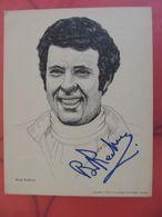 BRIAN REDMAN RITRATTO GOODYEAR 1976 AUTOGRAFATO DAL CAMPIONE 20X26 RRR - Automobilismo - F1