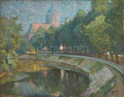 Pánczél Jelzéssel: Esztergom. Olaj, Vászon, 55×70 Cm - Altre Collezioni