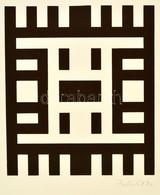 Porkoláb Sándor (1936-): Kompozíció. Szitanyomat, Papír, Jelzett, 24×21 Cm - Altre Collezioni