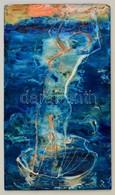 Rác András (1926-2013): Vénusz Születése. Hidegzománc, Farost, Jelzett, Apró Hibával, 40×23 Cm - Altre Collezioni