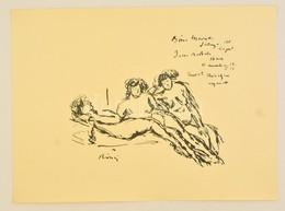 Rippl-Rónai József (1861-1927): Aktok. Cinkográfia, Papír, Jelzett A Cinkográfián, 26×35 Cm (1913 A 200 Példányban Megje - Altre Collezioni