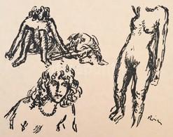 1913 Rippl-Rónai József (1861-1927): Gyöngysoros Lány. Cinkográfia, Papír, Jelzett A Cinkográfián,35×26 Cm (A 200 Példán - Altre Collezioni