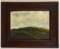 Rudnay Jelzéssel: Dombos Táj. Olaj, Falemez, Keretben, 36×46 Cm - Altre Collezioni