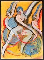 Scheiber Jelzéssel: Táncosok. Pasztell, Papír, 43×30 Cm - Altre Collezioni