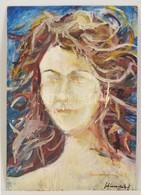 Schéner Jelzéssel: Női Portré. Olaj, Farost, 54×38 Cm - Altre Collezioni