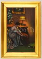 Sebestyén Jelzéssel: Öltözködő Hölgy. Olaj, Karton, Keretben, 30×20 Cm - Altre Collezioni